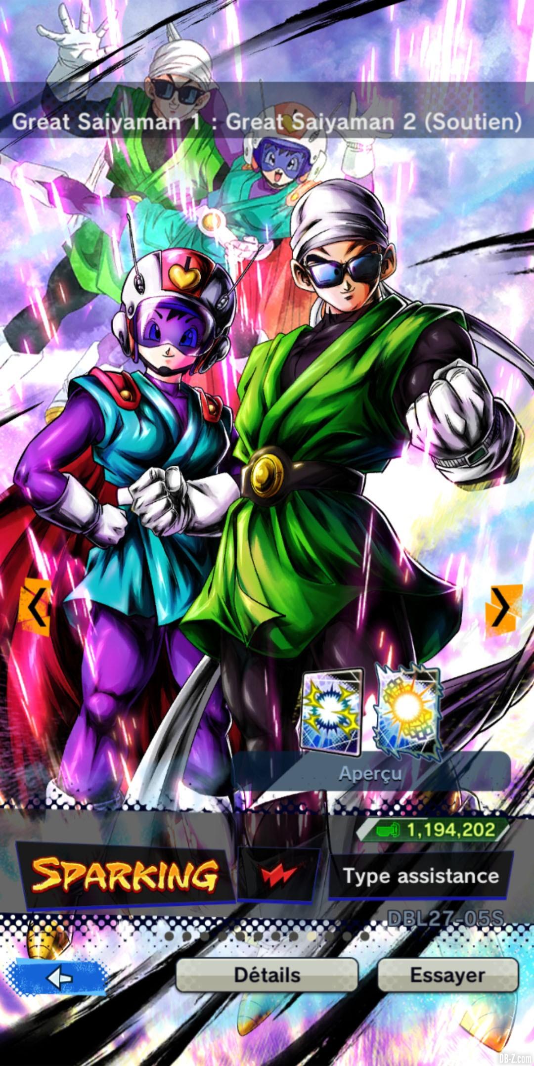 Dragon Ball Legends Great Saiyaman 1 et 2 ROUGE