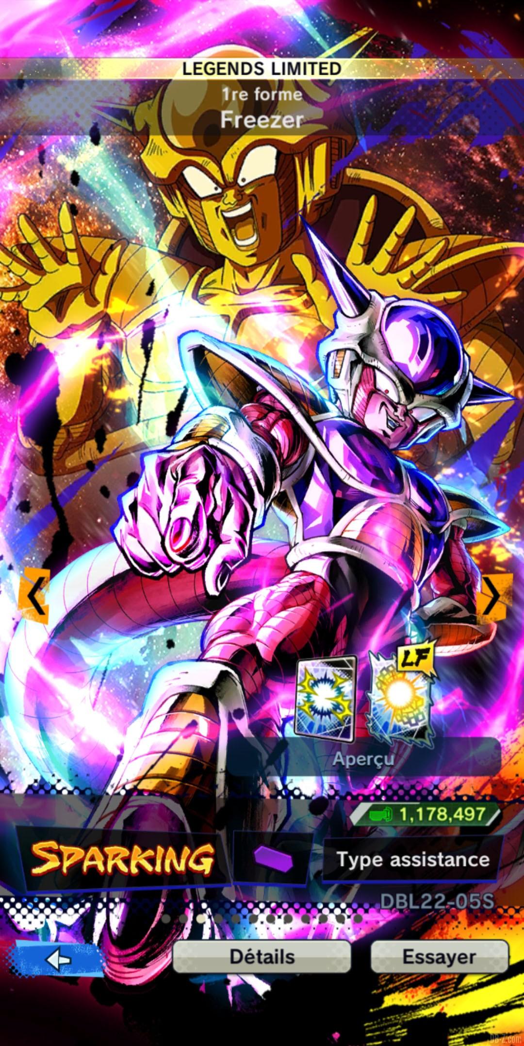 Dragon Ball Legends Limited Freezer 1re forme VIOLET