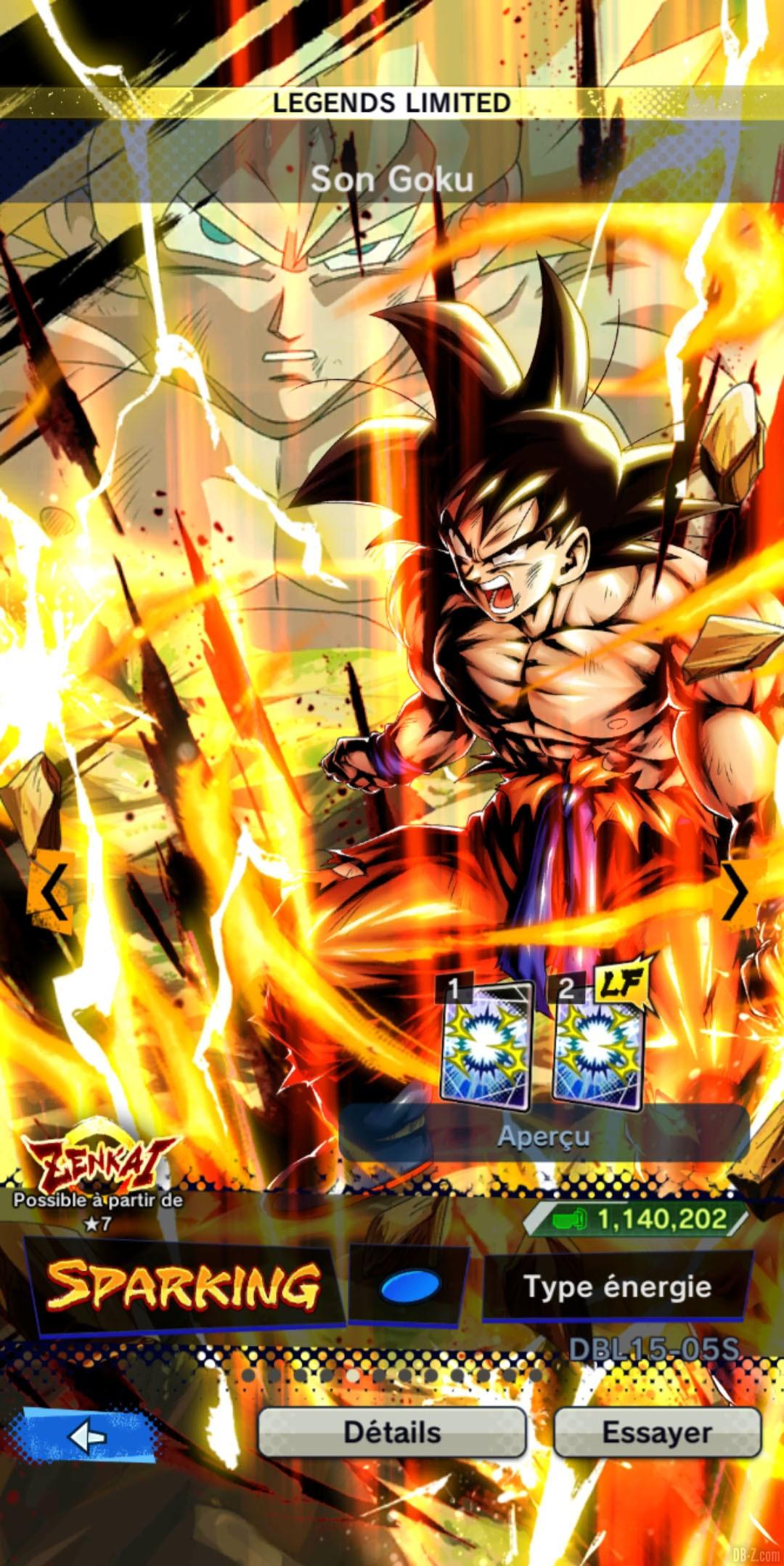 Dragon Ball Legends Limited Goku BLEU