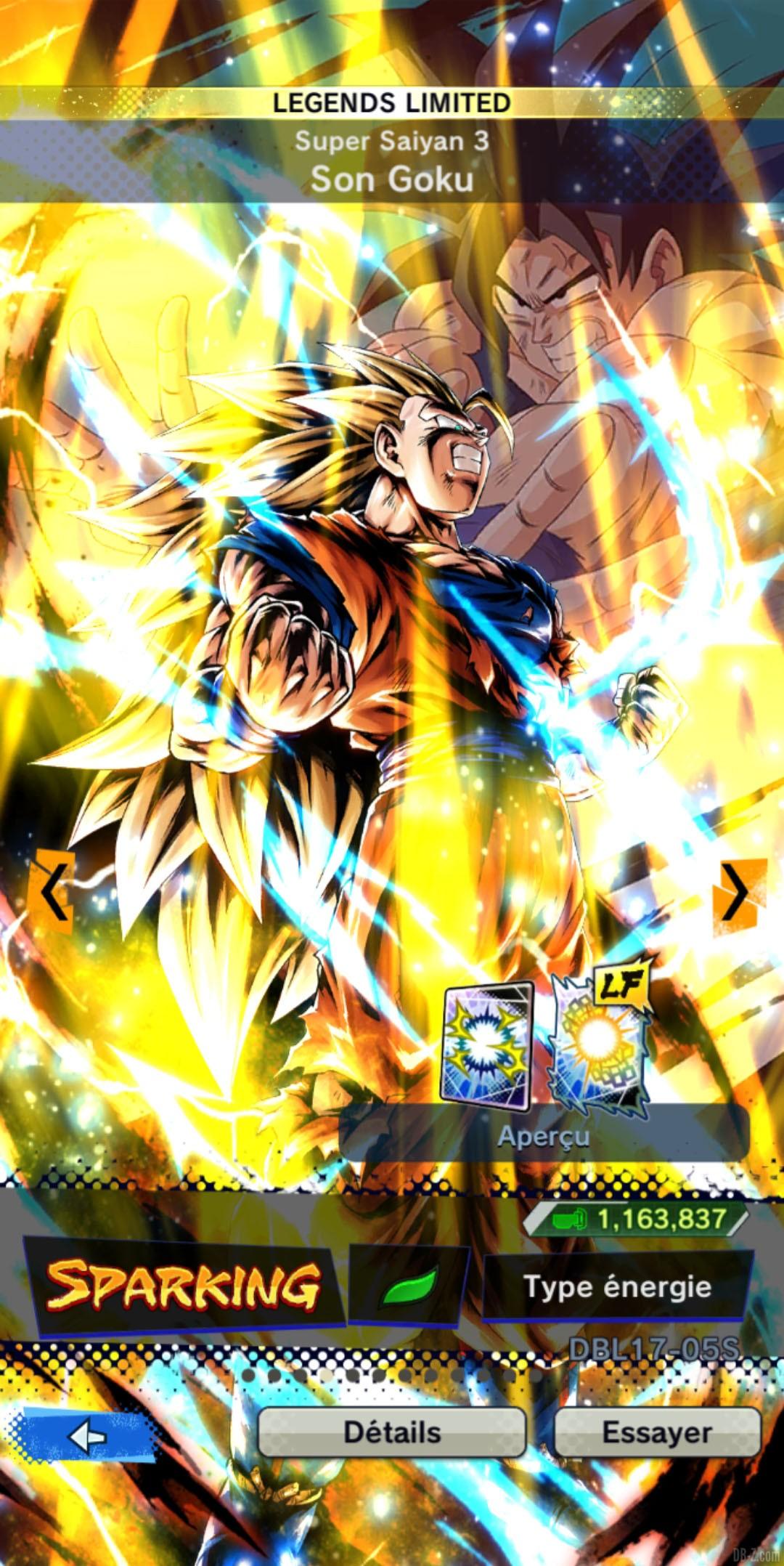 Dragon Ball Legends Limited Goku Super Saiyan 3 VERT