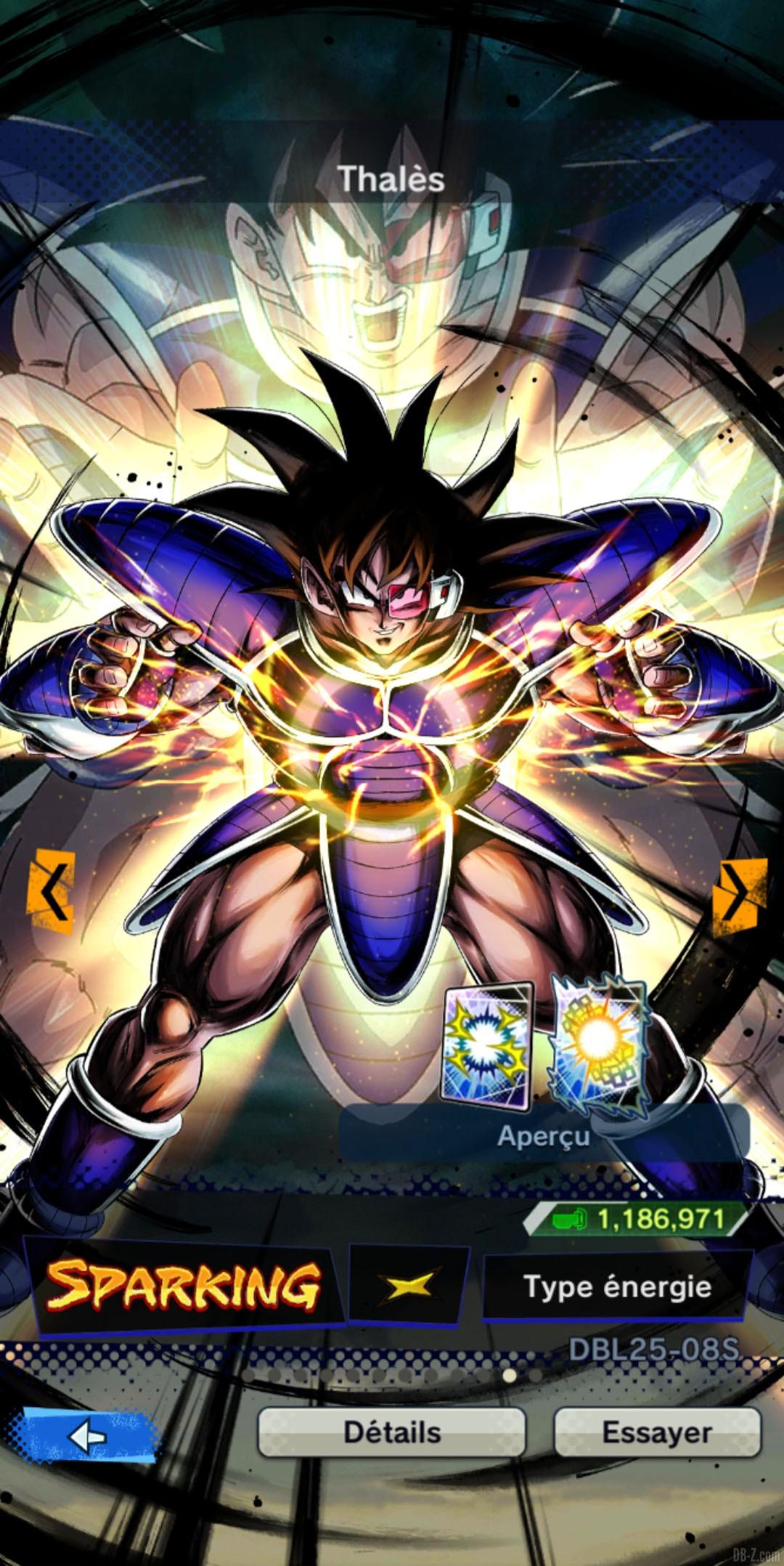 Dragon Ball Legends Thales JAUNE Energie