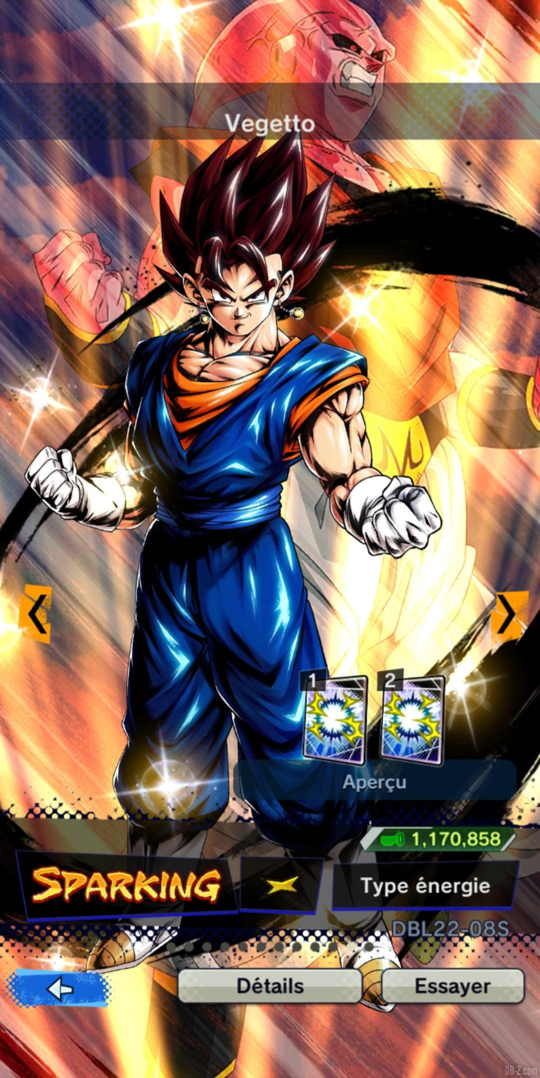 Dragon Ball Legends Vegetto JAUNE