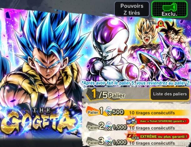 Portail Gogeta Blue Dragon Ball Legends