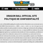 Site officiel Dragon Ball