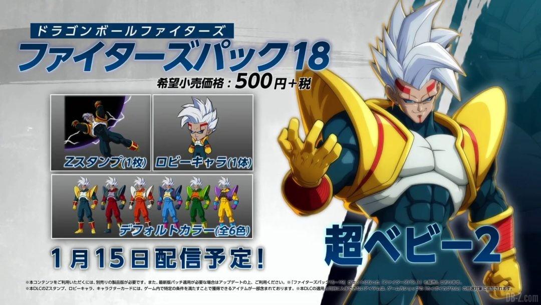 Super Baby 2 avatar couleurs alternatives dragon ball fighterz