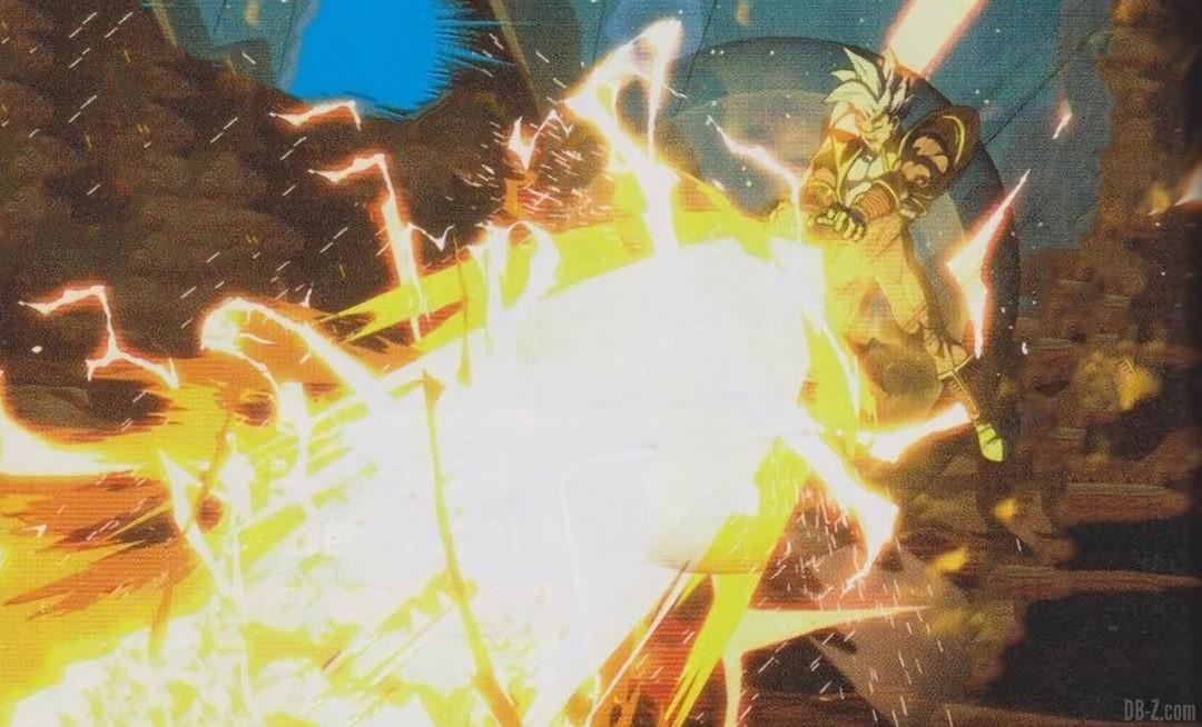 Vague denergie a pleine puissance de Super Baby 2 Dragon Ball FighterZ