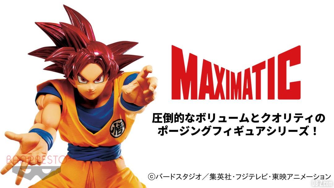 Figurine Goku Super Saiyan God Maximatic