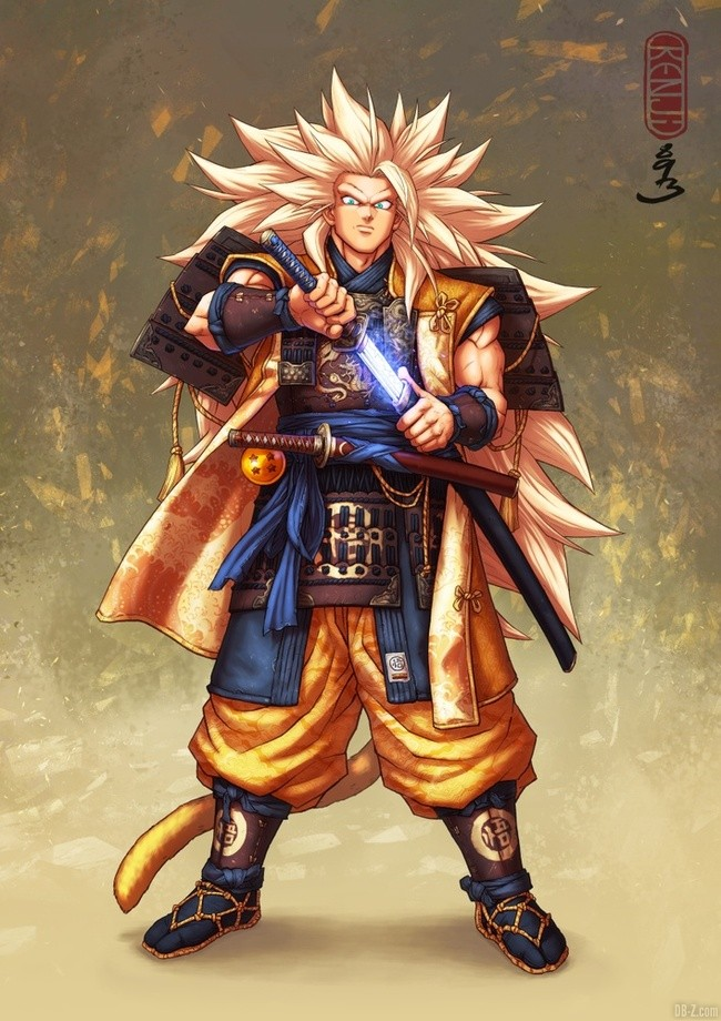 Goku Super Saiyan 3 Samourai