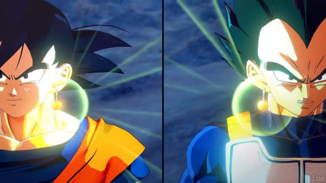 Goku et Vegeta fusionnent DBZ Kakarot