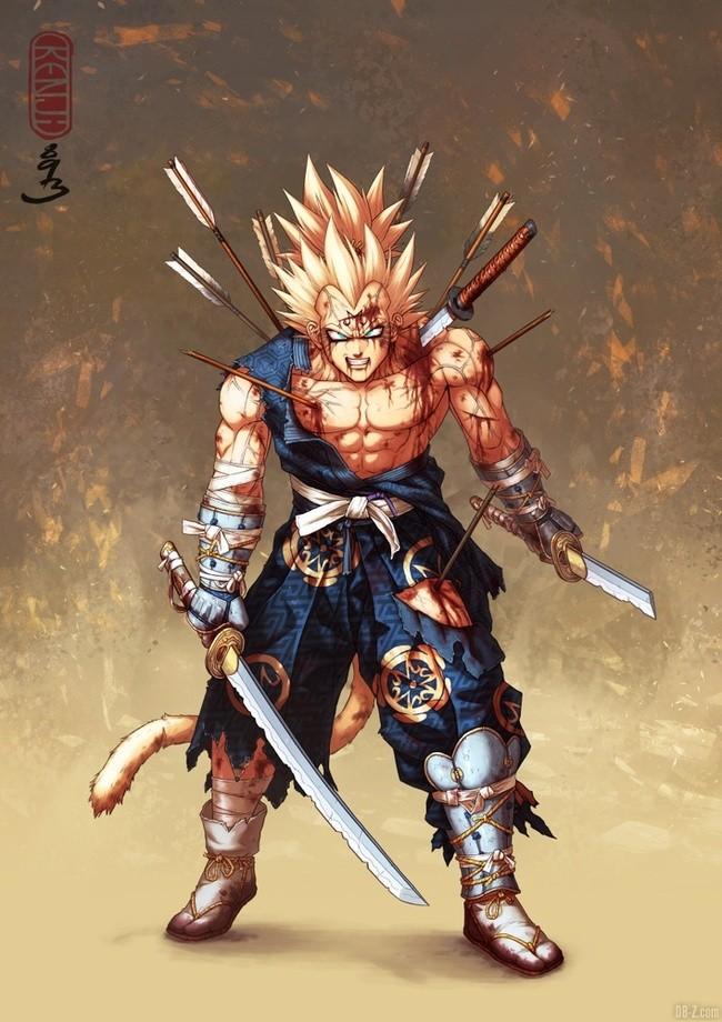 Majin Vegeta Samourai