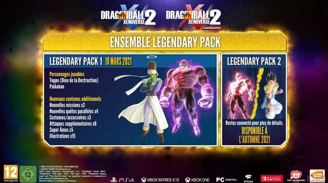 Legendary Pack 1 et 2